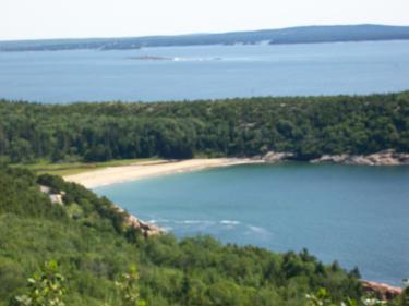 Sand Beach, Maine, geology